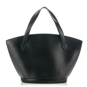 Black Epi Noir Saint Jacques Zip Tote 232439